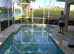 swimming pool cleaning services from Sam